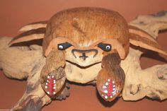 (2), COCONUT CARVING,CRABS,SEAFOOD DECOR,NAUTICAL DECOR,TIKI BAR,COASTAL DECOR #COCONUTCARVING