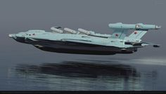 """concept ships: Soviet Atomic Powered Ground-effect Light Carrier 19701 """"SMELOST"""" by Alex Brady Lun Class Ekranoplan, Yatch Boat, Fly Air, Ground Effects, Experimental Aircraft, Flying Boat, Concept Ships, Sea Monsters, Military Aircraft"""