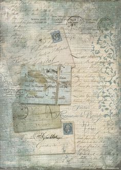 Rice Paper for Decoupage Decopatch Scrapbook Craft Sheet Vintage Blue Cards: