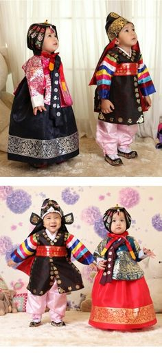 cuties in hanbok for #korean first birthday