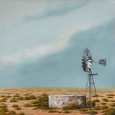 Landscape Photos, Landscape Paintings, Landscape Photography, Slide Background, Background Images, South African Artists, Country Art, Windmills, Acrylics