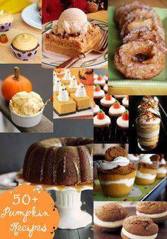 50+ Pumpkin Recipes - a must-keep list for fall! #pumpkin