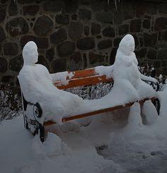 snow sculpture, artist unknown