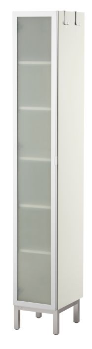 LillÅngen High Cabinet 1 Door, Aluminum