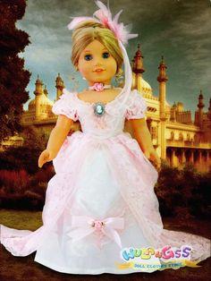 Doll Clothes fits 18'' American Girl Handmade 5pcs Royal Victorian Dress/Gown #wulang55 #DollClothes