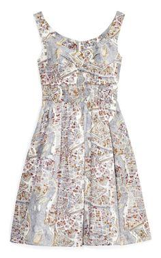 Map of Paris Day Dress