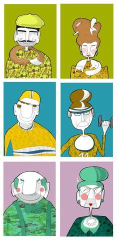 ILLUSTRATION . WORK . SKETCHBOOK on Behance by/Eva Neirynck