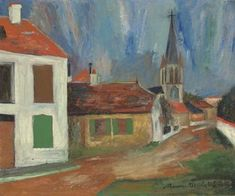 Maurice Utrillo, La place du village