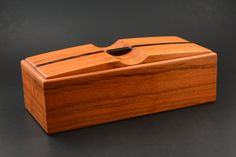 Wood box made from Black Cherry with Wenge accents keepsake trinket pen pencil by FineWoodenCreations on Etsy https://www.etsy.com/listing/265521958/wood-box-made-from-black-cherry-with