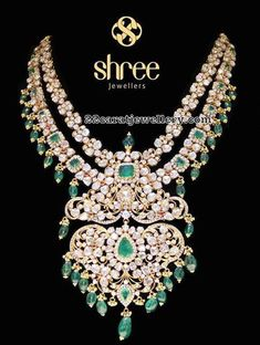 Flat Diamond Stylish Sets by Shree Jewellers India Jewelry, Jewelry Art, Gold Jewelry, Jewelery, Jewelry Design, Emerald Jewelry, Diamond Jewelry, Diamond Choker, Charms