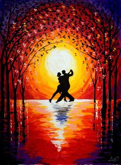 63 Trendy dancing silhouette couple romantic - Fitness and Exercises, Outdoor Sport and Winter Sport Couple Painting, Couple Art, Acrylic Painting Canvas, Canvas Art, Painting Abstract, Painting Art, Oil Pastel Art, Dance Paintings, Silhouette Painting