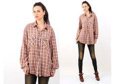 Vintage levi's Cotton Plaid western Cowboy Men Shirt Size XL by Ramaci on Etsy