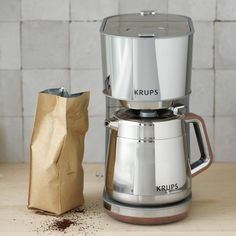 Krups KT600 Silver Art Collection 10 European Cup Thermal Carafe Coffee Maker