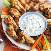 Buffalo Chicken Wings with Blue Cheese Dressing Recipe  NOTE: Sub chicken legs for drum sticks