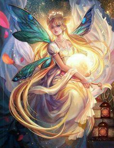 Beautiful Golden Fairy