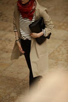 赤・白・黒のフレンチスタイル3 Office Fashion, Daily Fashion, Paris Fashion, Winter Fashion, Love Fashion, Girl Fashion, Fashion Ideas, French Girl Style, My Style