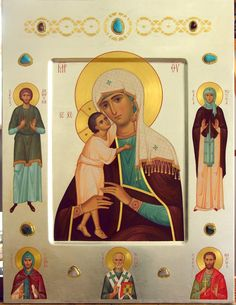 Love this idea! Religious Images, Religious Icons, Religious Art, Madonna, Christian Artwork, Russian Icons, Best Icons, Byzantine Icons, Virgo