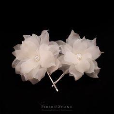 Pure Silk Bridal Headpiece Bridal Hair Flower Bridal by FiberStone