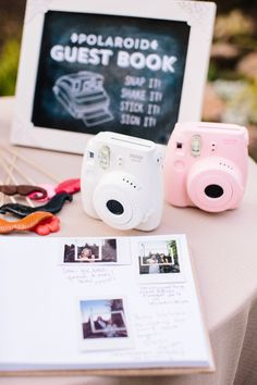Polaroid + wedding + guestbook