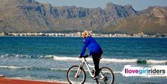 Tina on the beach - Rider: Tina Maiwald - #ilovegirlriders #iamagirlrider