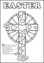 Free printable christian bible colouring pages for kids for Easter coloring pages religious education