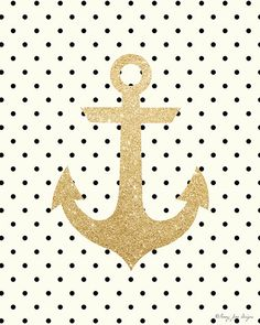 Gold Glitter Anchor Printable Art by PennyJaneDesign on Etsy