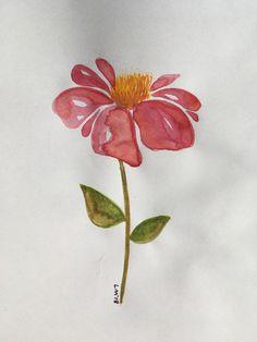 Flower/pink/watercolour/art/lydiamaycreative