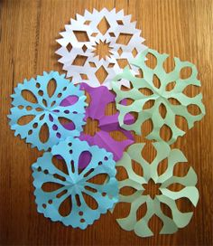 Advent ~ Week One: The Light of Crystal & Stone ~ Paper Snowflakes into Winter Cards & Gift Tags
