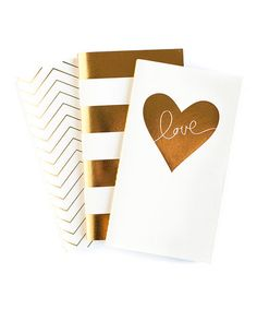 Look what I found on #zulily! Fancy Mini Notebook - Set of Three #zulilyfinds