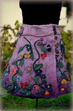 Sukne - °Ty si má levandulová°hodvábno-vlnená sukňa - 5962103_