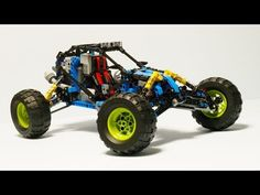 LEGO Blue Lightning Buggy - building instructions and parts list. Lego Mindstorms, Robot Design, Lego Moc, Hello Everyone, Lightning, Make It Yourself, Toys, Projects, Trophy Truck