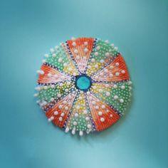 Bead Embroidered Sea Urchin.  Eleanor-Pigman.squarespace.com