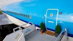 Im KLM Flugzeug übernachten - einzigartige Unterkunft  - http://freshideen.com/hotels/im-klm-flugzeug-ubernachten.html