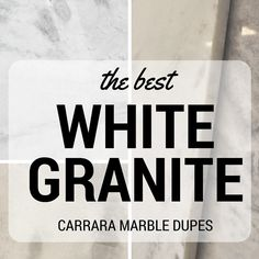 I actually am sick to death of Carrara Marble but this article has some good examples of gray granites that I like.