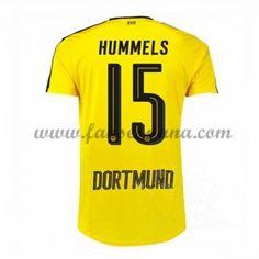6701742018333 Camisetas De Futbol BVB Borussia Dortmund Hummels 15 Primera Equipación 2016 -17