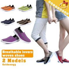 [S$15.90][Golden Egg][Unisex:35~44 Sizes]▶Breathable Weave Pattern Cool Shoes◀GBE-Elastic Woven Design/ Lightweight n Sweat Absorption Inner Pad/ 35~44 Sizes/ 3 Styles-812、670、9x3 models