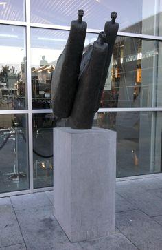'Airport' Bronze by Tjikkie Kreuger. Eindhoven Airport,  Luchthavenweg Eindhoven, Netherlands.  February 3th, 2014