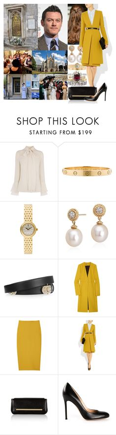 """""""Viewing Jane Austen's burial at Winchester Cathedral and then visiting the Jane Austen  Festival in Bath"""" by marywindsor ❤ liked on Polyvore featuring Cartier, Tiffany & Co., Blue Nile, The Row, Gianvito Rossi and contemporary"""