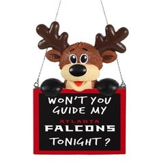 2015 NFL Football Team Logo Reindeer With Sign Holiday Tree Ornament - Pick  Team (Atlanta Falcons) c89dce37a