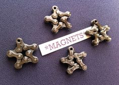 How cool are these? I mean really...how cool?  #nerd - BIKE CHAIN STAR magnets
