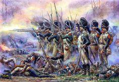 Napoleonic era Polish Grenadiers, battle of Raszyn, April 1809.