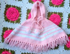 Pink Baby Poncho by lishyloo on Etsy, $8.00