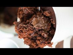 The moistest chocolate mug cake you will ever have! It's NOT spongy like other mug cakes and will be sure to satisfy that chocolate craving instantly! - May 04 2019 at Mug Recipes, Cake Recipes, Dessert Recipes, Desserts, Moist Chocolate Mug Cake, Chocolate Mug Cakes, Pear And Almond Cake, Almond Cakes, Fig Cake