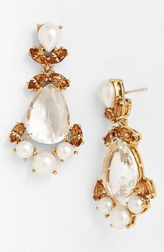 Gorgeous crystal drop earrings by kate spade new york