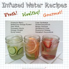 healthy infused water recipes - diet water - fruit water infusions - quick and easy recipes that make you feel fancy