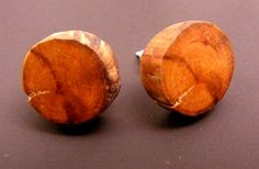 1 pair Wooden Earrings Fake Plugs Apple Woodwith by Trendsandgoods