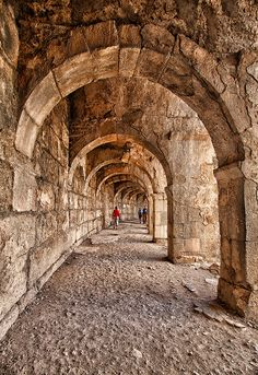 Arched walkway of the Aspendos Theatre in Turkey by Rafael Uy Roman Architecture, Architecture Awards, Ancient Architecture, Beautiful Places To Visit, Places To See, Capadocia, Old Stone, Roman Empire, Antalya