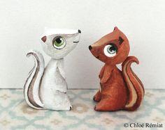 Minis écureuils roux et blanc, réservés pour Ludivine