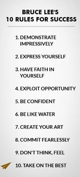 Rules for success: Bruce Lee