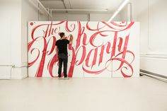 Typographic Mural - The Pink Party on Behance
